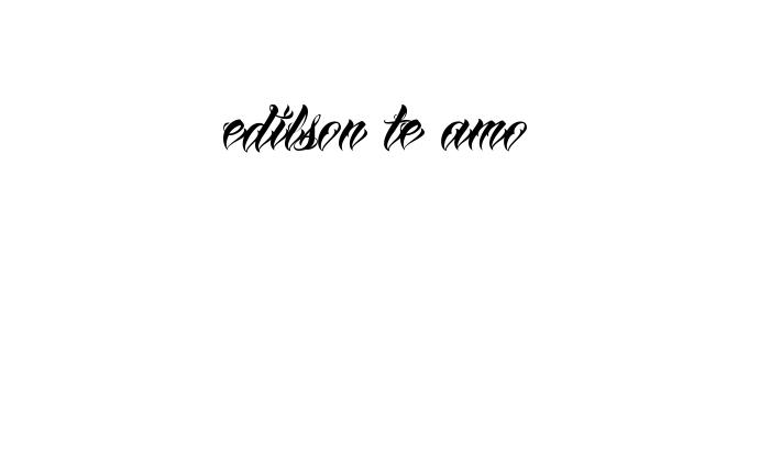 Faa voc mesmo criador tatuagem online fecebook pinterest tatuagem do nome edilson te amo utilizando o estilo anha queen script fandeluxe Image collections