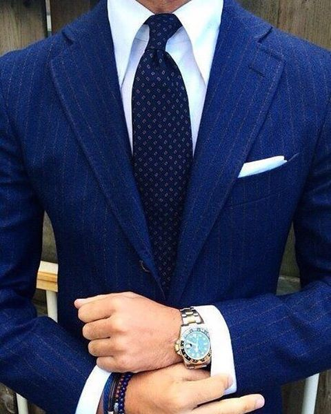 Wedding White Or Blue Shirt: FRIDAY VIBES Navy Blue Suit With A Notch Collar Combined
