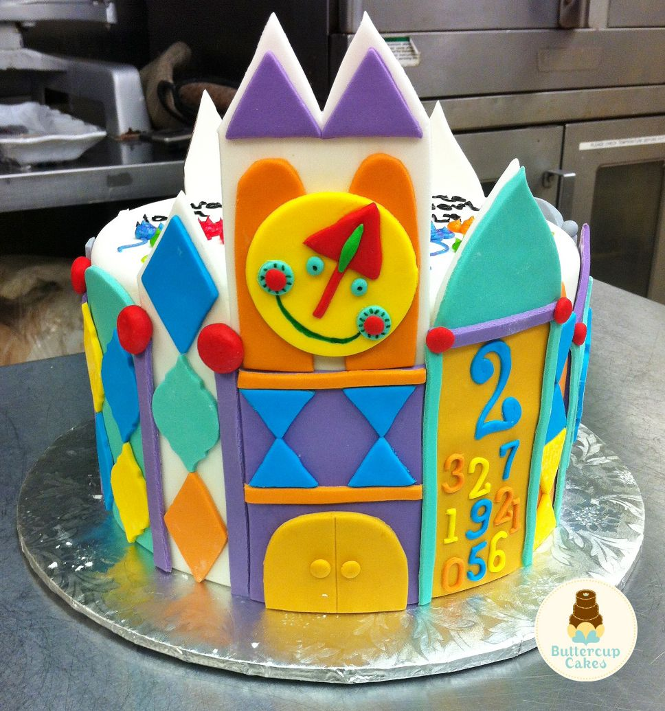 It's A Small World Themed Cake