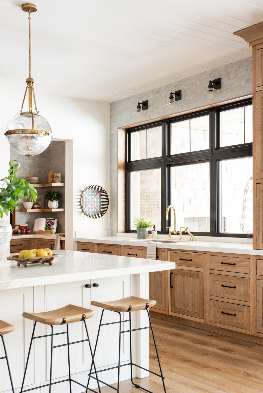 Natural Wood Kitchen Design Studio Mcgee Natural Wood Kitchen Design Studio Mcgee Animation In 2020 Diy Kitchen Remodel Interior Design Kitchen Wood Kitchen
