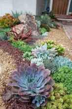 86 Awesome Front Yard Rock Garden Landscaping Ideas #frontyardlandscapingideas