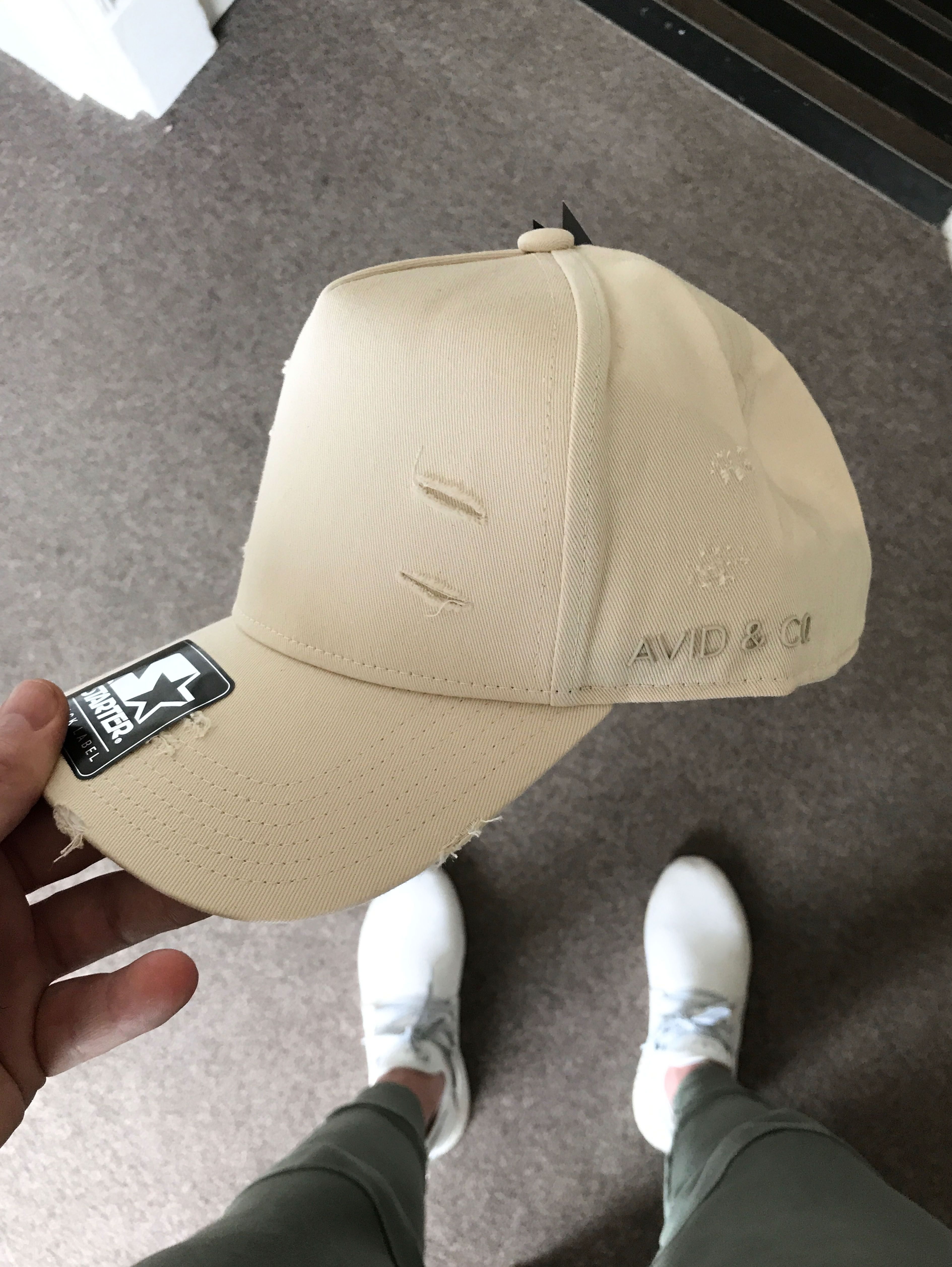 5377c8372ead46 Avid & Co. Off-White Trucker Hat | Crooked | Hats, Hats for men ...
