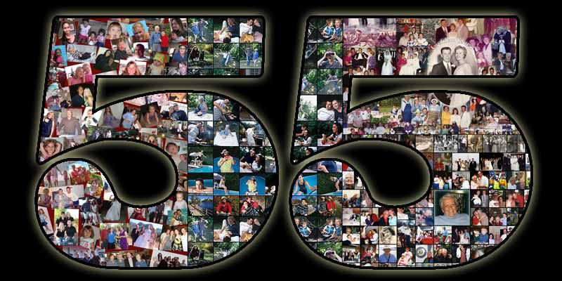 Handmade 55th Birthday Collage Gift For Wife Ideas From Husband Father And Mother Photoartomation