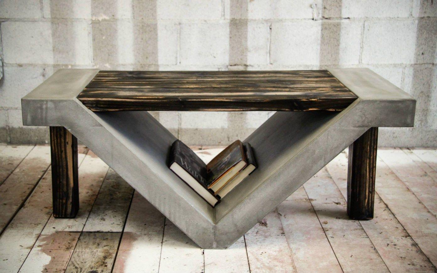 Amazing Concrete Coffee Table 11 Concrete Furniture Coffee Table Furniture [ 871 x 1392 Pixel ]