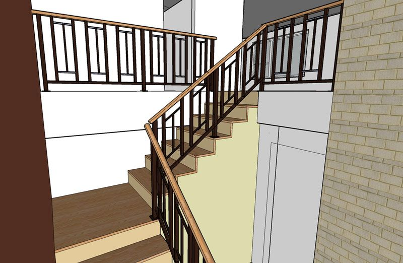 Mid Century Modern Sixties Makeover Live Work Play | Mid Century Modern Stair Railing