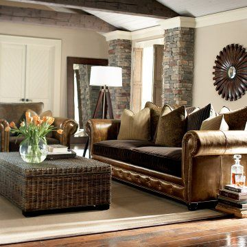 Bernhardt Seminole Trunk Furniture Living Room Leather Home
