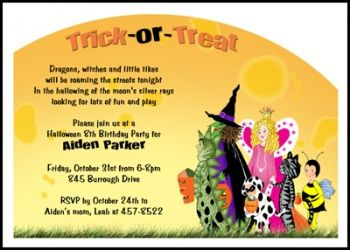 Spooky And Kooky Kids Birthday Party Halloween Invitation Number