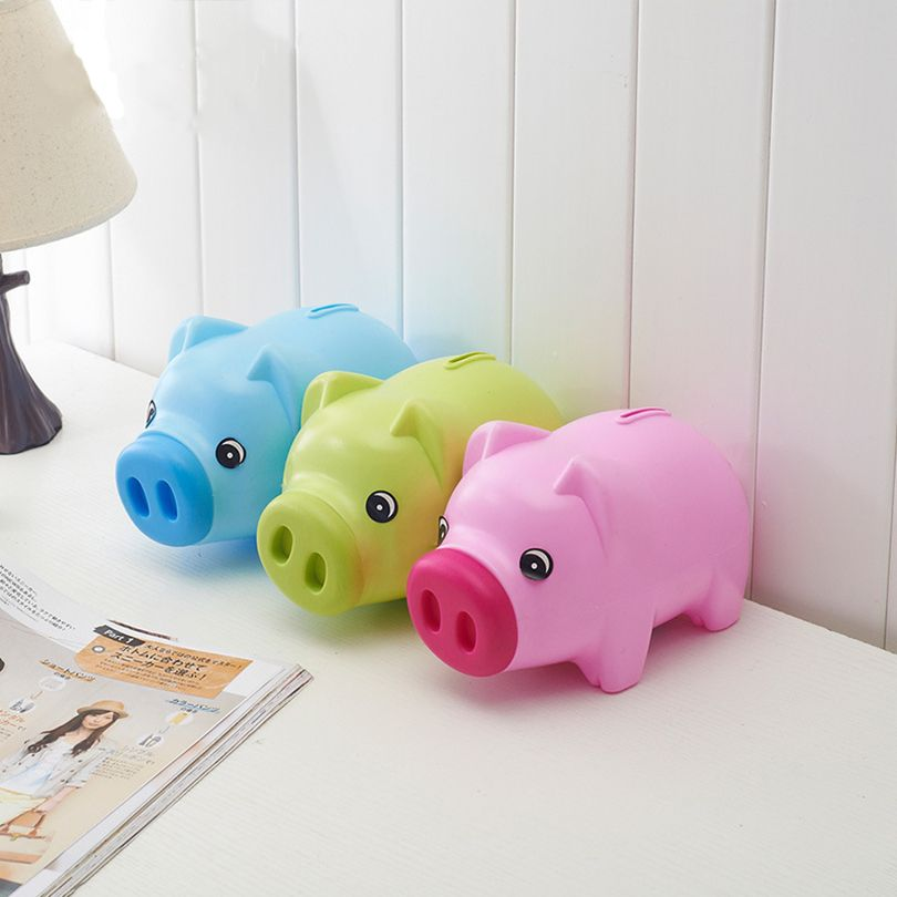 money box piggy bank plastic coin bank pig steal money saving box money box large piggy
