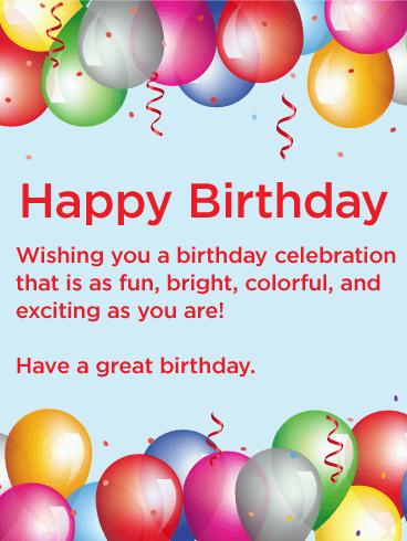 Shining Balloon Happy Birthday Card Birthday Greeting Cards By Davia Happy Birthday Wishes Cards Happy Birthday Wishes Quotes Romantic Birthday Wishes