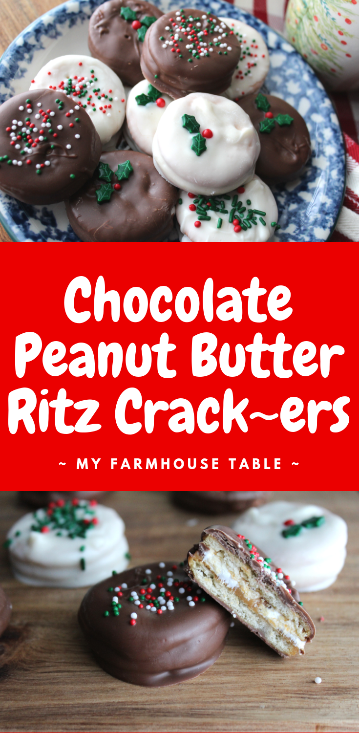 Chocolate Peanut Butter Ritz Crackers – My Farmhouse Table