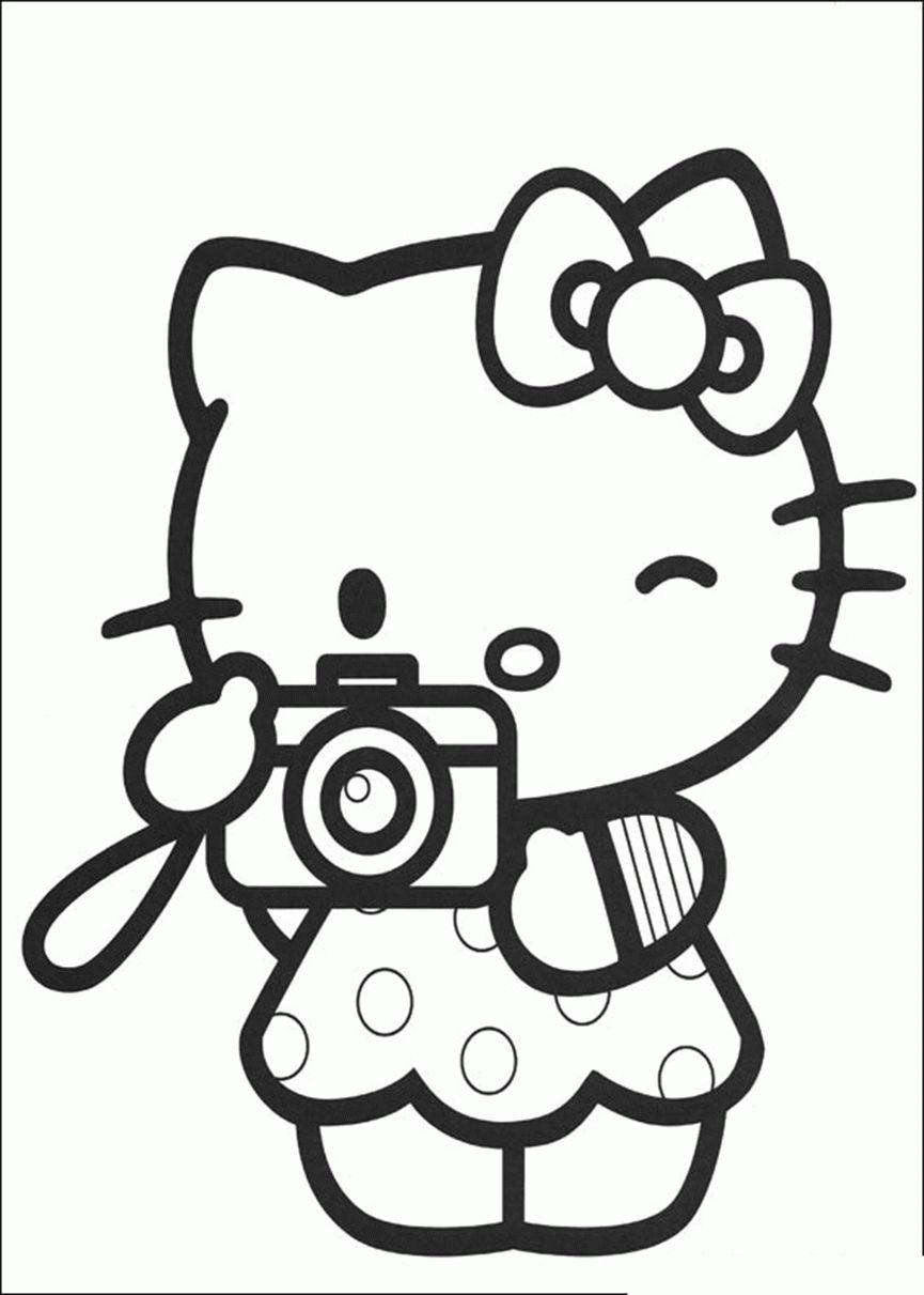 Ausmalbilder Hello Kitty Zum Ausmalen Gratis  Hello kitty