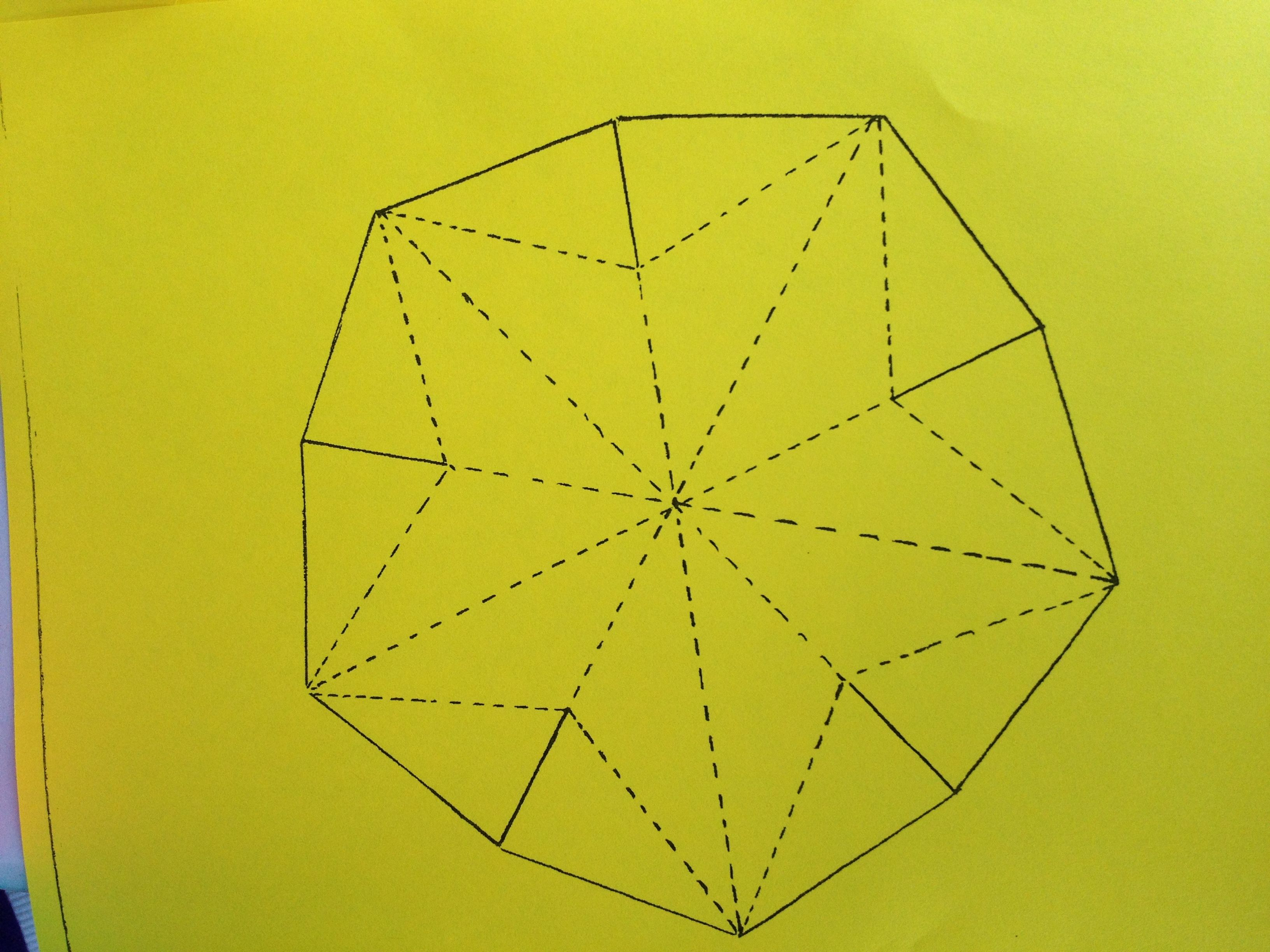 This Is The Pattern To Make The Parol, Or Star Paper