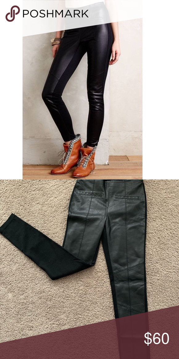 2a834d758259b7 La Fee Verte Faux Leather Leggings Though they may seem like exotic runway  wear, leather