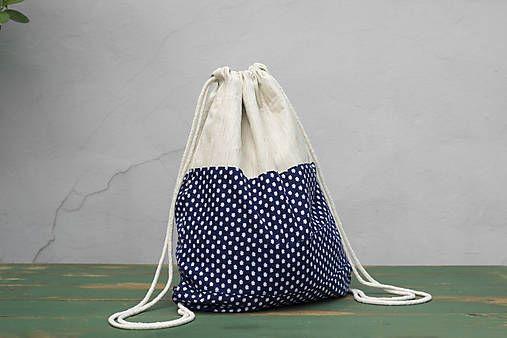 BAGitka_obecna / Recy batoh modrotlačový