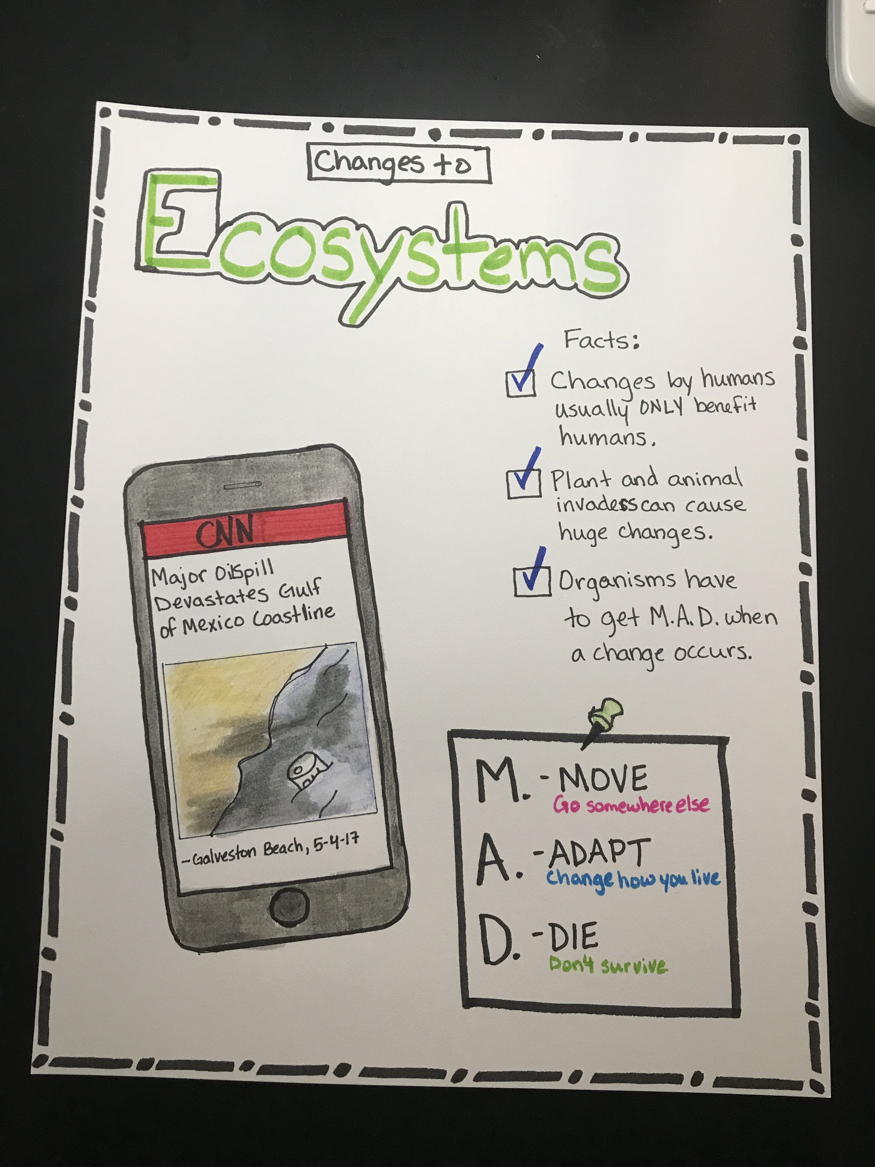Changes To Ecosystems Anchor Chart