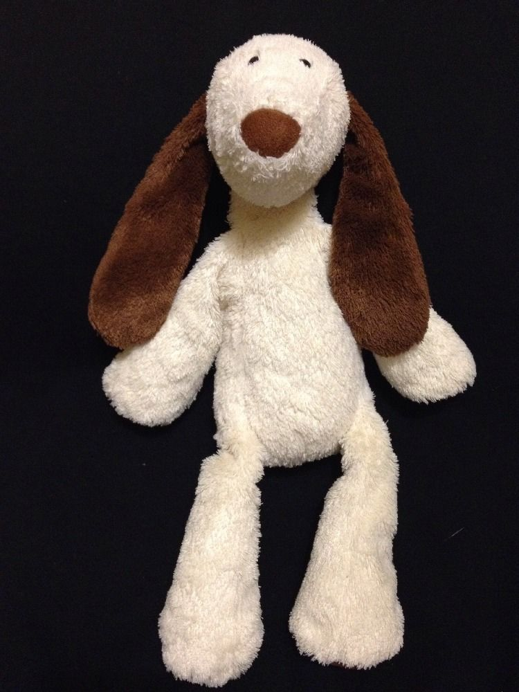 Jellycat Nono Dog Soft Toy Plush Floppy 13 Brown Cream