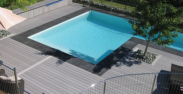Durable Outdoor Composite Pool Flooring Bergen Wpc Decking Floor