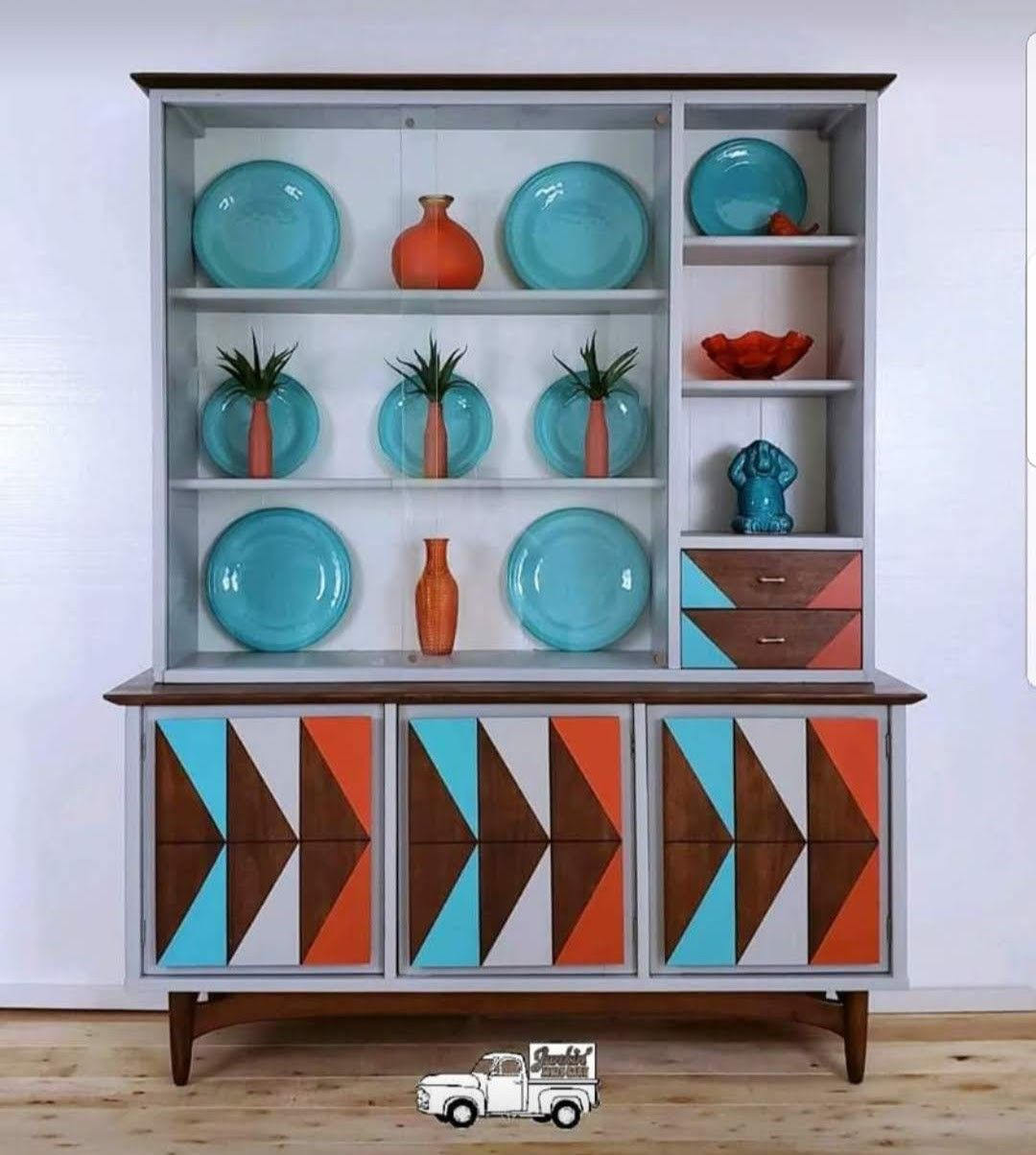 Gorgeous mcm china hutch thats for sale on facebook 1950s furniture mid century furniture