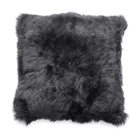 Natures Collection New Zealand Sheepskin 35x35cm Cushion, Black
