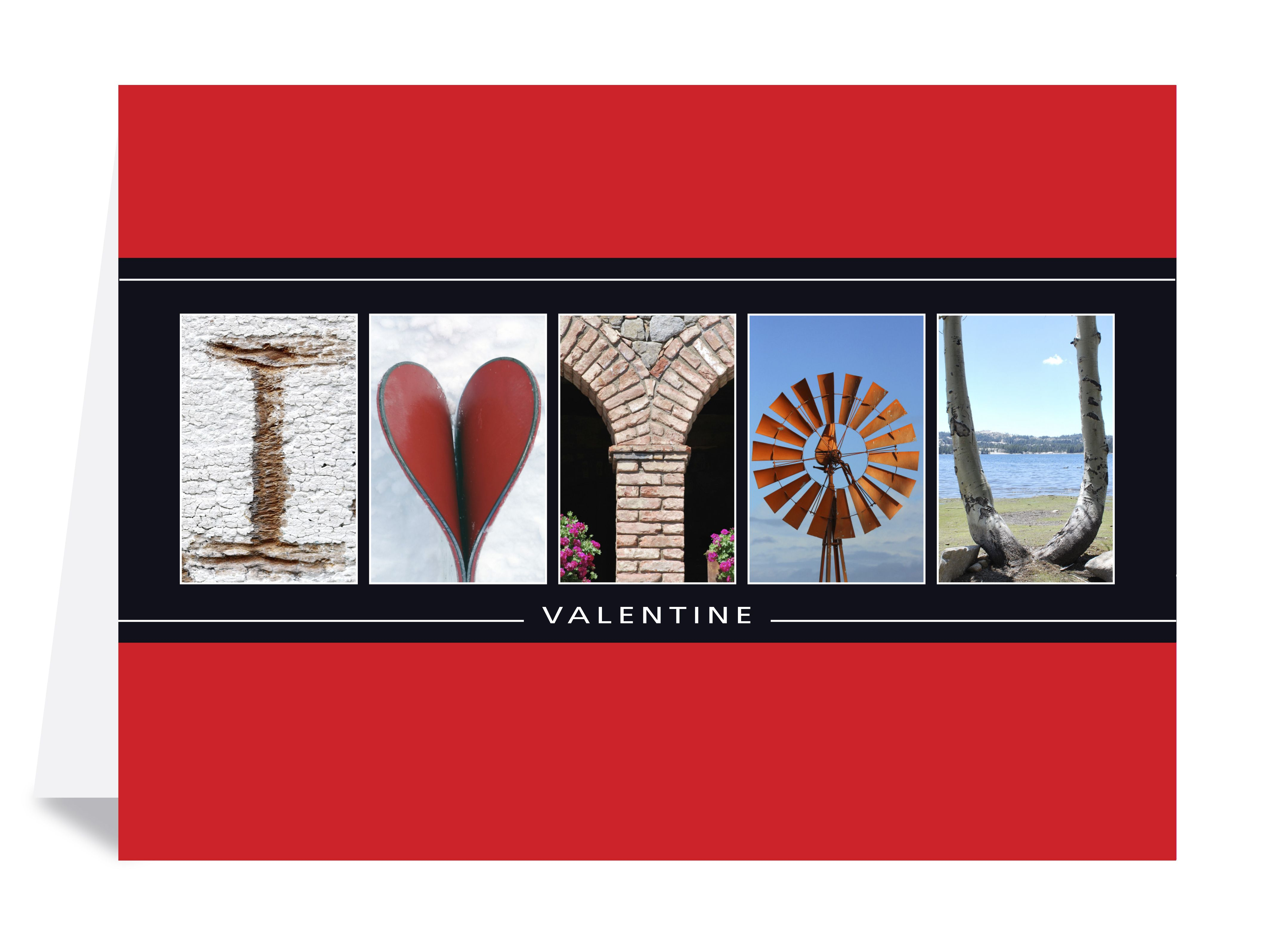 Create your Valentines. Letter Art Greeting Cards
