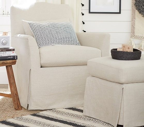 Eco Camelback Swivel Rocker Ottoman Chair And Ottoman Baby
