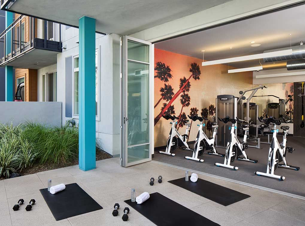 The Fitness Center Includes Both A Yoga And Spinning Studio Looking For Apartments Apartment Uptown