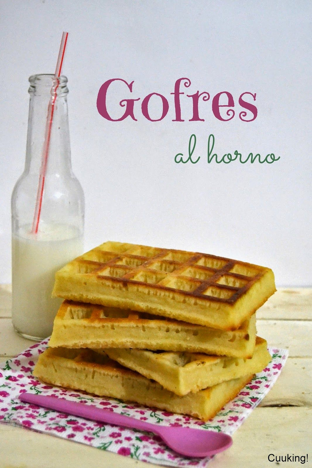Gofres al horno / Baked waffles - Cuuking!