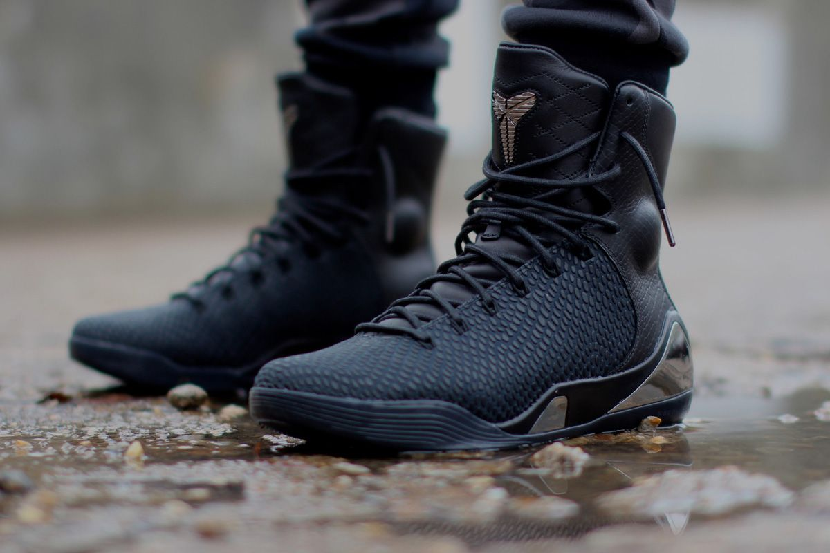 """13cb7fbdef4d Nike Kobe 9 High KRM EXT """"Black Mamba†(Detailed Pictures"""