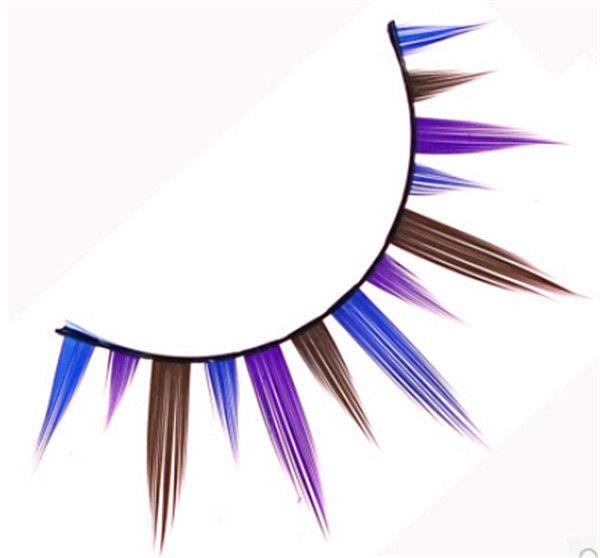 Colorful Eye lashes original Marlliss 941 Professional False Eyelashes fake color eye lash single packing