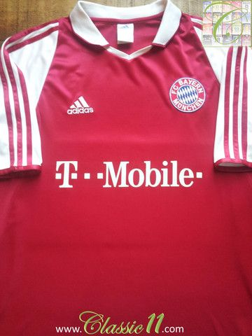 cb2796121 Relive Bayern Munich's 2003/2004 season with this vintage Adidas home  football shirt.
