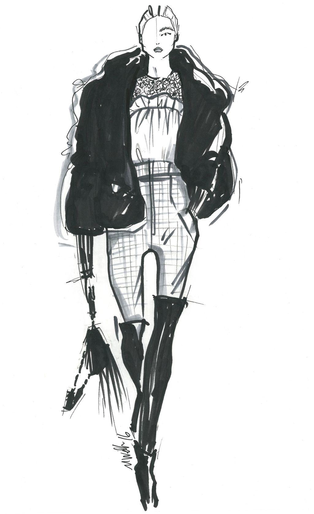 """""""Modern Dandy."""" — Marissa Webb Sketch Fashion"""