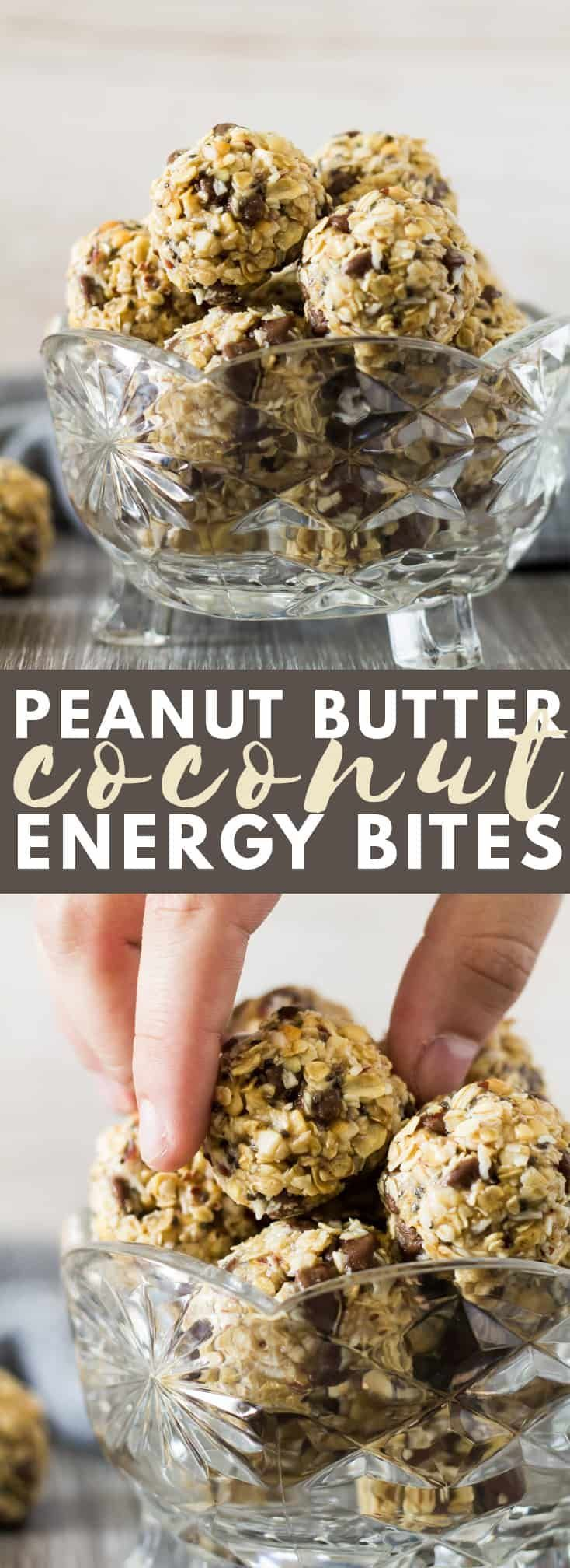 No-Bake Peanut Butter Coconut Energy Bites | Marsha's Baking Addiction