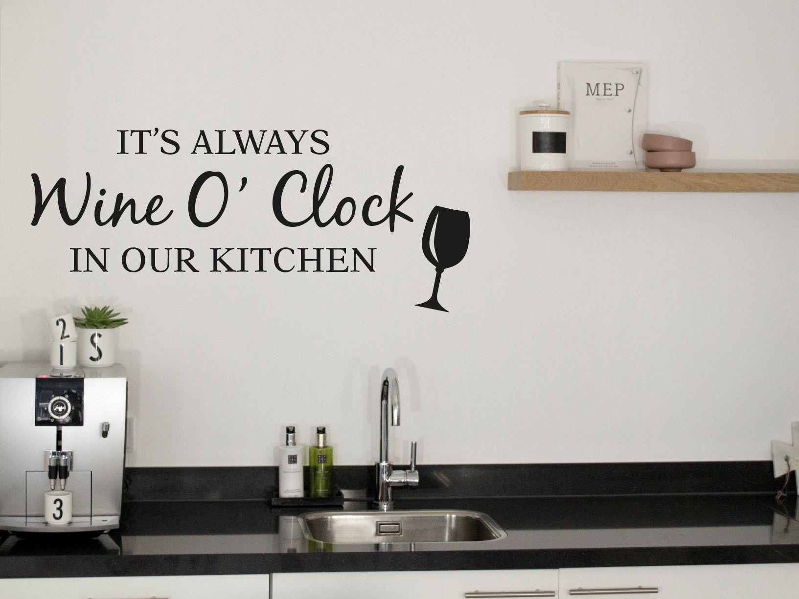 Muursticker keuken gratis verzonden groot assortiment eigen