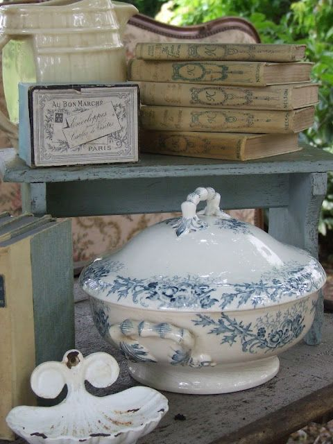 Beautiful soup tureen ~ My French Country Home, French Living - Sharon Santoni