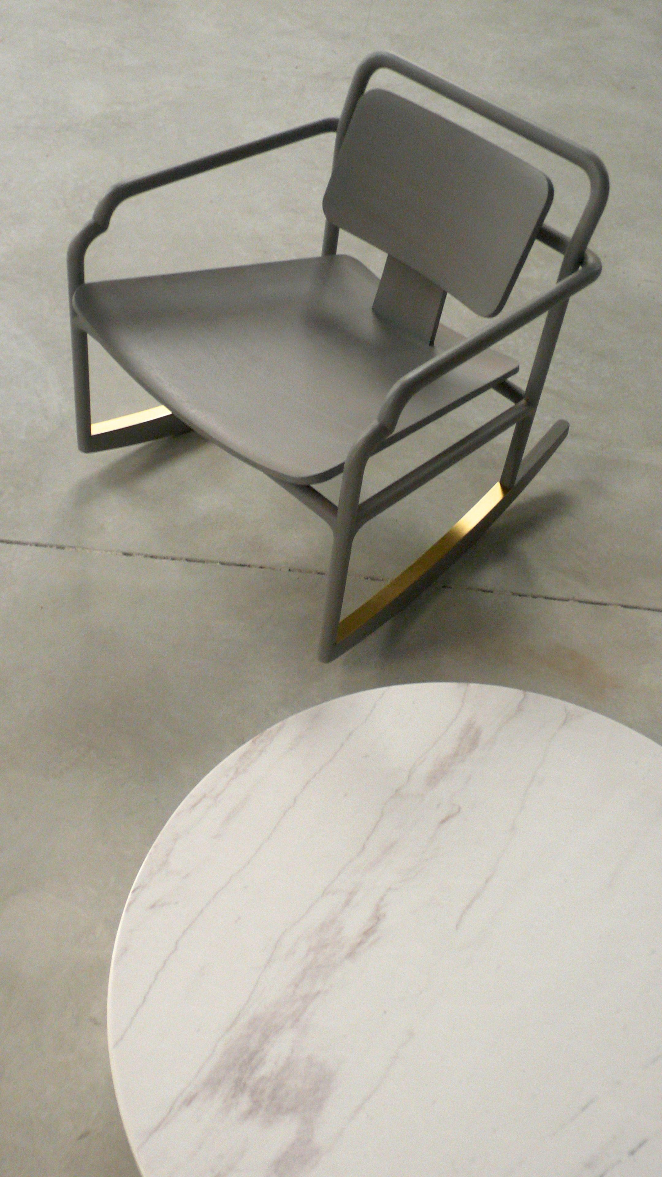 Akar De Nissim S Rocking Chair Marceau With Brass Details And