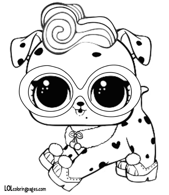 sugar pup lol surprise doll coloring page