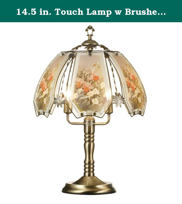 14 5 In Touch Lamp W Brushed Gold Base Three Way Reliable Touch Sensor Control Requires Three 25 Watt Bulbs Low Medium Touch Lamp Touch Table Lamps Lamp