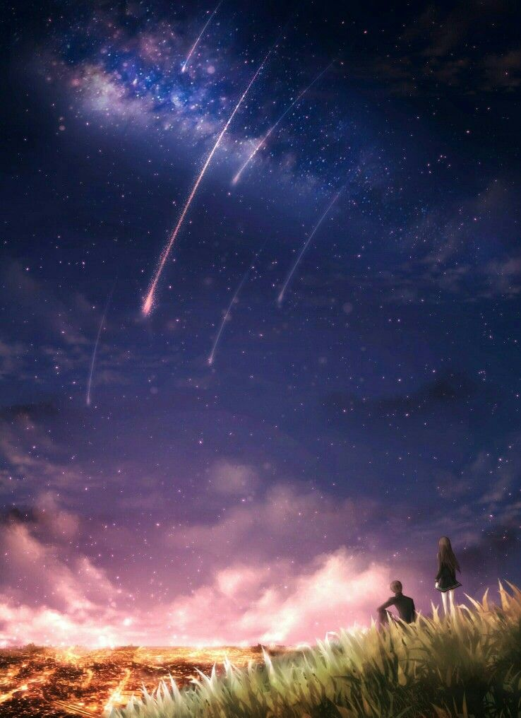 Starry Night Anime Anime Scenery Scenery Pictures