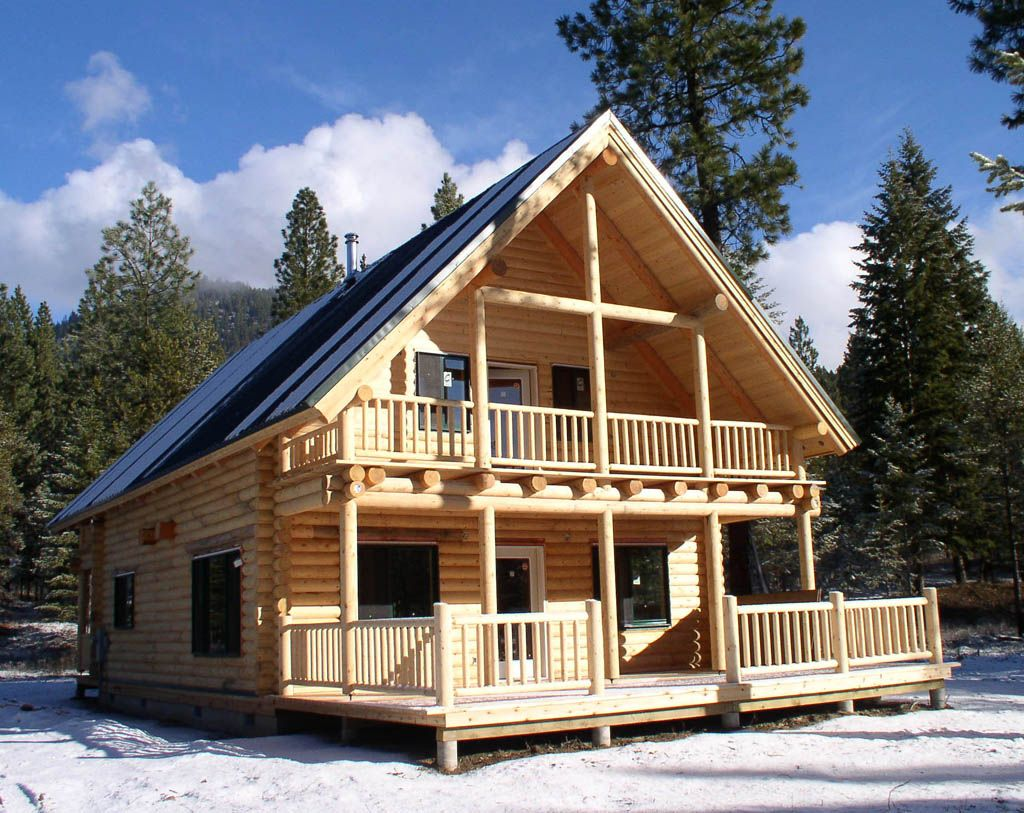 Image detail for pre built log homes cabins and play for Small house design made of wood