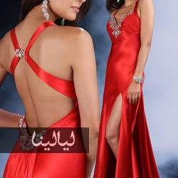 فساتين خطوبة وسهرات مكشوفة الظهر اختاري ما يناسبك احمر Red Evening Dress Red Prom Dress Long Red Evening Dress