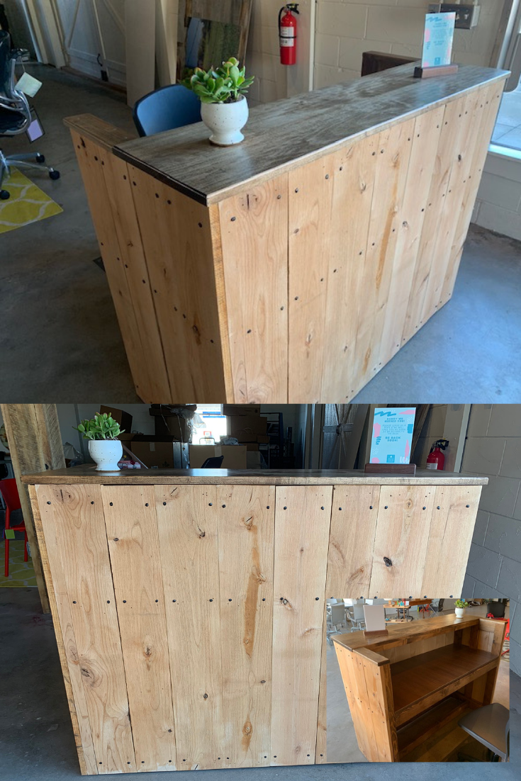 Small Wood Reception Desk Greencleandesigns Com Mini Sales Counter