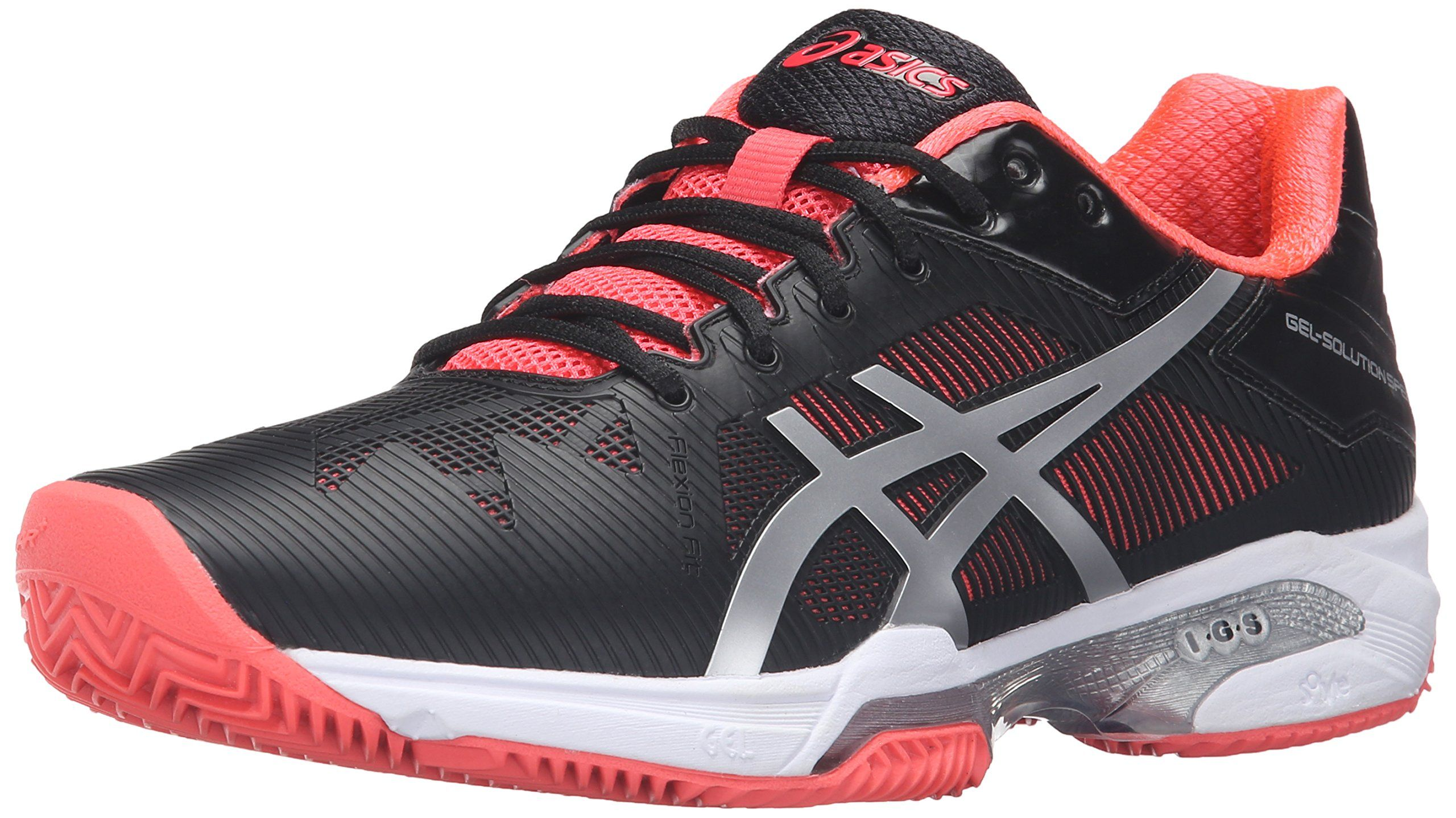 ASICS Women'S Gel-Solution Speed 3 Clay Tennis Shoe, Black ...