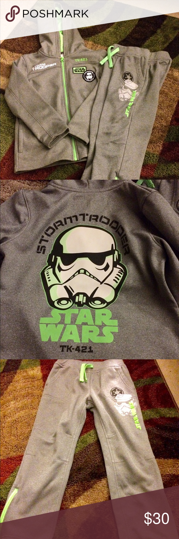 Star Wars 2 piece jogger Size XL/7X in great condition! Maybe worn 5x total star wars Matching Sets