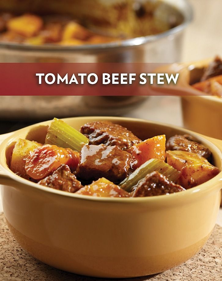 Get out your vegetable juice and beef broth, and prepare to work some magic! The tasty flavors in this Tomato Beef Stew are sure to wow.