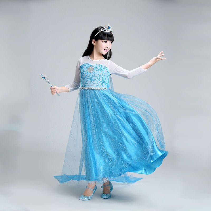 d76c097347234 Kids Anna Elsa Costumes Dresses for Girls Children's Princess Girl Dress  The Snow Queen Christmas Toddler Girls Clothing 868