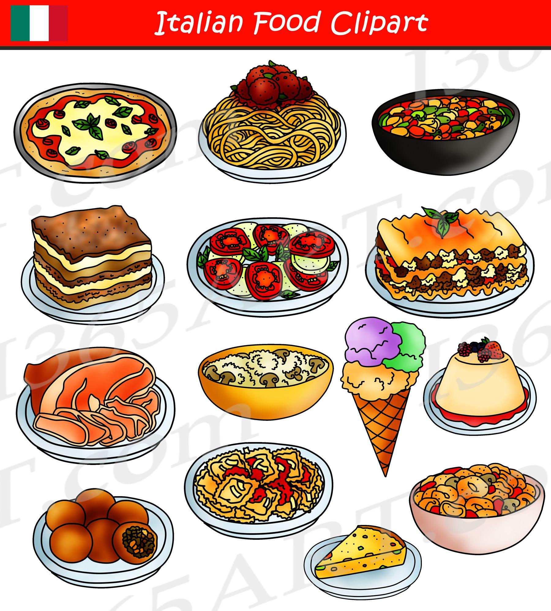 Italian Food Clipart International Food Graphics Food
