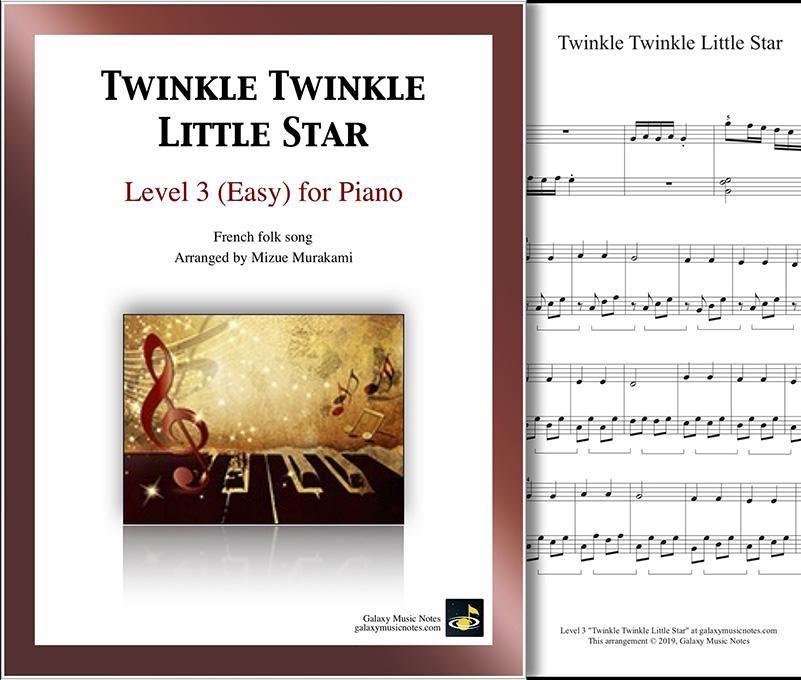 Twinkle Twinkle Little Star Level 3 Piano Sheet Music Piano