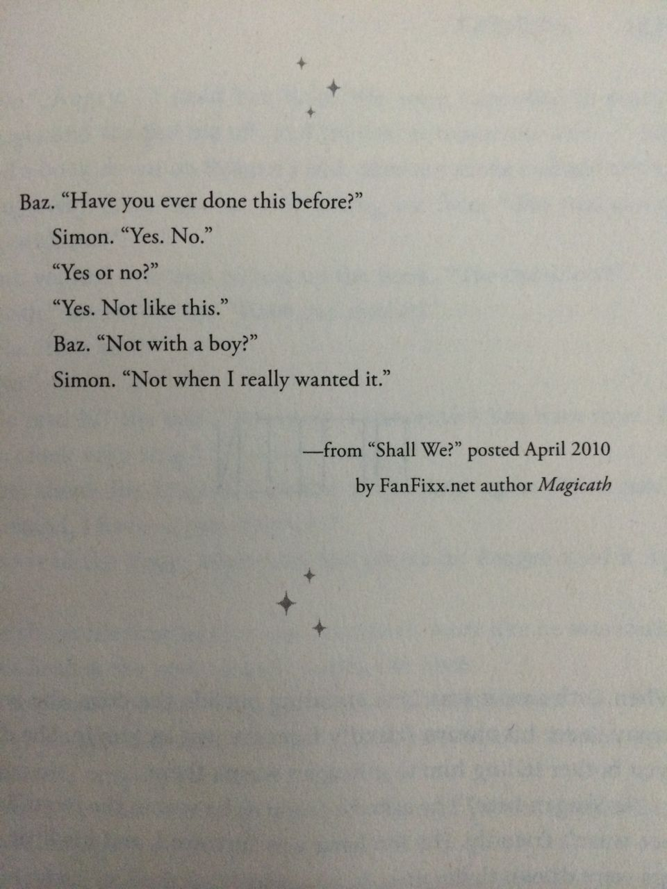 This is my favorite part of fangirl omg