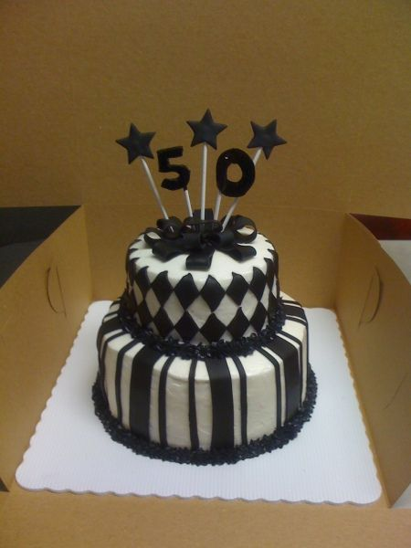 Cake Decoration Ideas For 50th Birthday : 50th birthday cake ideas ... White 50th Birthday Cake ...