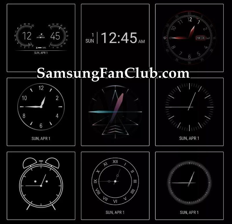 Download Samsung Clockface App with 29 Clock Faces for